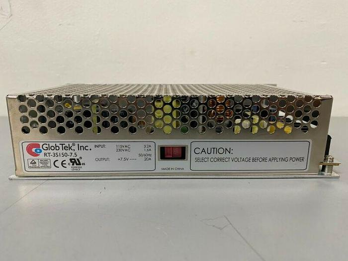 Used GlobTek RT-3S150-7.5 Power Supply 115/230V-AC
