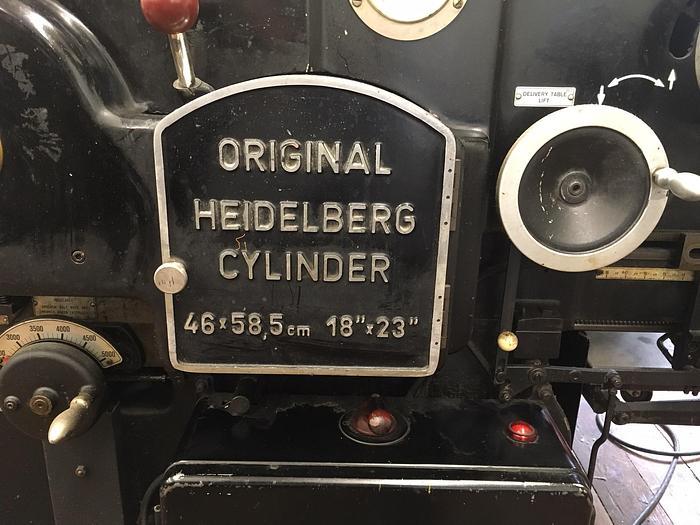 1967 Heidelberg Cylinder die cutter