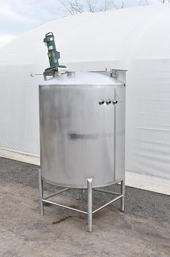 Used USED 1200 GALLON MIX TANK, 316 STAINLESS STEEL