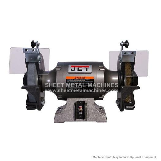 JET JBG-8W Shop Grinder with Grinding Wheel and Wire Wheel 577128