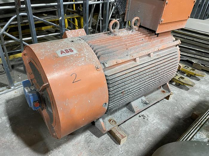 Used 600 HP ABB MOTOR 1200 RPM REBUILT 2017