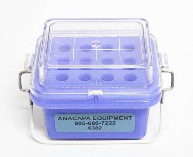 Used Nalgene 5115-0012 Blue Polycarbonate -20C Labtop Cooler w/ Lid (6382)
