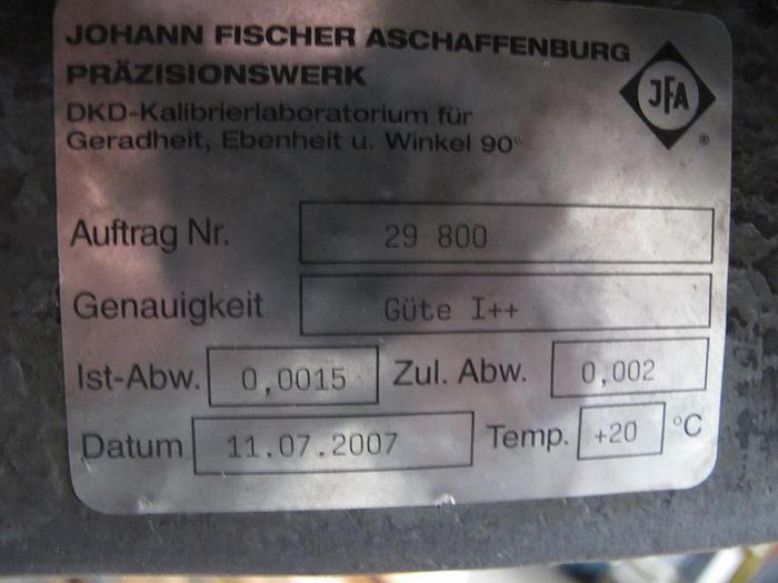 Anreissplatte Stahl Messplatte Johann Fischer Tuschierplatte