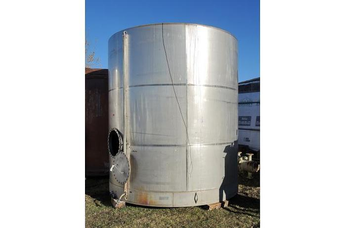 USED 8250 GALLON TANK, STAINLESS STEEL