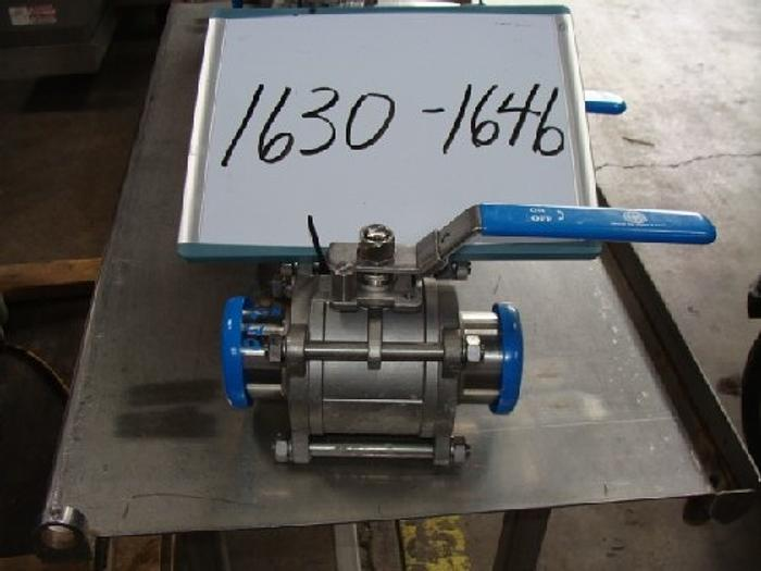 "Used 3"" Stainless Steel Ball Valve Culver Type 316"