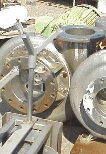 """USED CENTRIFUGAL PUMP, 10"""" X 8"""" INLET & OUTLET, STAINLESS STEEL"""