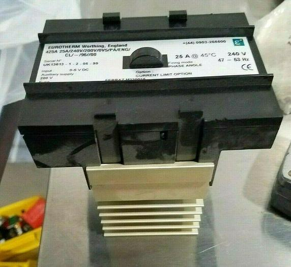 Used Eurotherm Relay Switch 425A 25A /240V/200V/0V5/PA/ENG/CL/-/96//00 FREE SHIPPING
