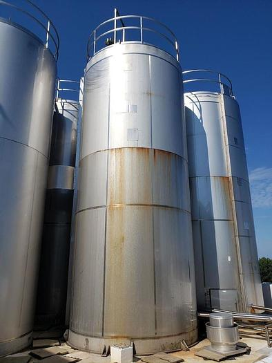 Used 15,000 GALLON CHERRY BURRELL MIX TANK/REACTOR – S/S – 100 PSI JACKET (#9730) (2 available)