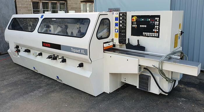 Used 2001 SCM Italy Automatic Throughfeed moulder SCM TOPSET XL, 7 heads
