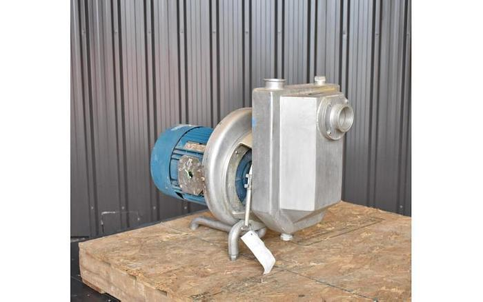 "USED TAPFLO CENTRIFUGAL PUMP, 2.5"" X 2"" INLET & OUTLET, STAINLESS STEEL, SANITARY, SELF PRIMING"