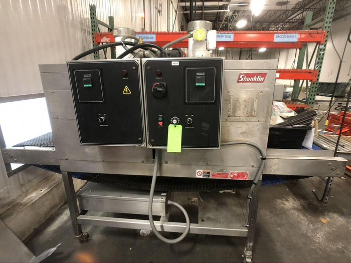Used SHANKLIN MODEL T-62 S/S STAINLESS STEEL TWO ZONE HEAT TUNNEL