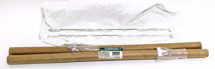 Chemglass CG-2078-01 Stirrer Shaft 10mm Polished 460mm OAL New Lot of Two (4279)