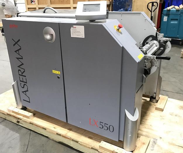 "2004 - Lasermax / Tecnau LX550 Unwinder, 718637 w/ Airshaft (3"", 5 or 6""), Serial No 04LX550014"