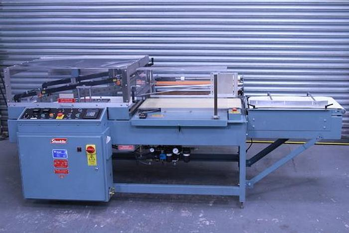 Used Shanklin A27a L Sealer Shrink Wrapper with Shanklin 400 Series T-7 XL Heat Tunnel