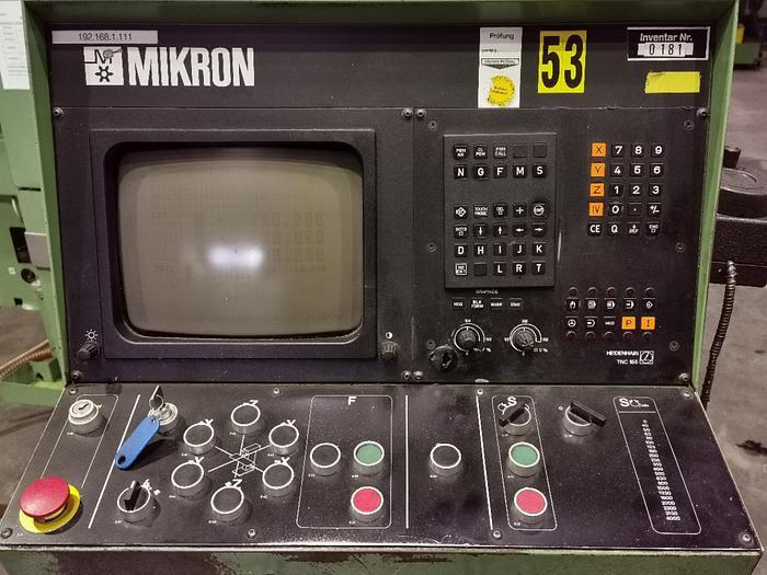1988 Universal Fräsmaschine MIKRON WF 3 DCM