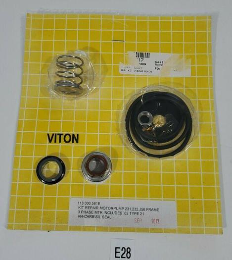 *NEW* VITON 118.000.581E Motor Pump Repair Kit For 231, 232, J56 Frame +Warranty