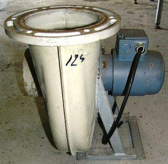 Used LINATEX A/S ventilator with AEG motor, type AD 63R – 0,18 kW, 2800 rpm