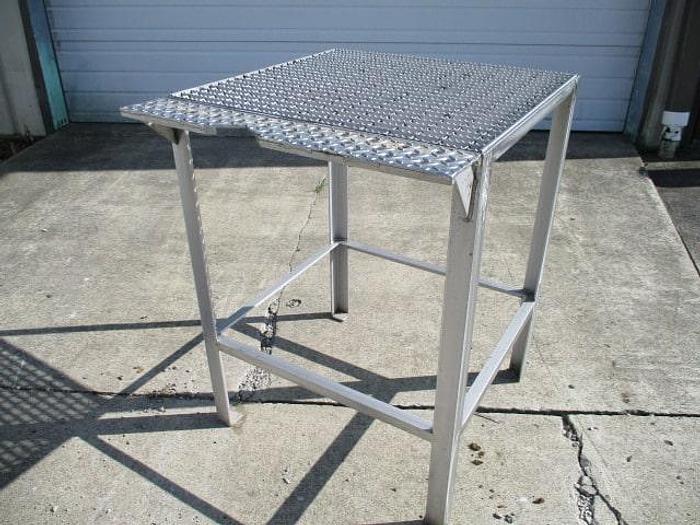 "Used Work Platform, 30""x 29"", 1"" Serrated bar grate top"