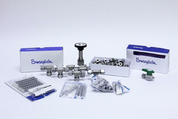 Swagelok & Nupro Compression Tube Union, Ferrule, Bellows Valve NEW, Lot (2828)