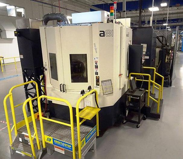 Used 3112, Makino, A81, 4 Axis CNC Horizontal Machining Center, 2012