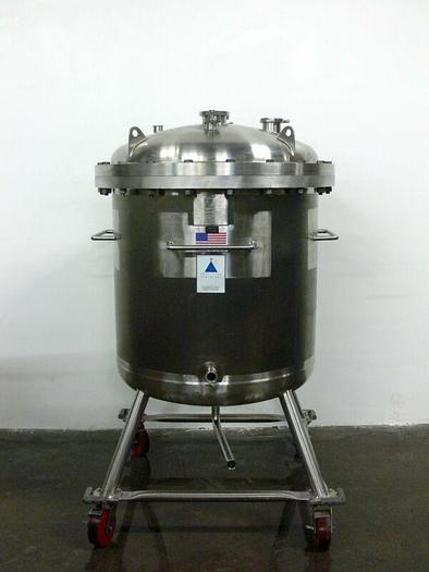 Used Precision 500 Liter 316L Stainless Steel Reactor / Pressure Vessel  Rated 60 PSI