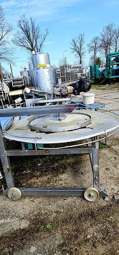 Used Stół obrotowy, wykonany ze stali nierdzewnej