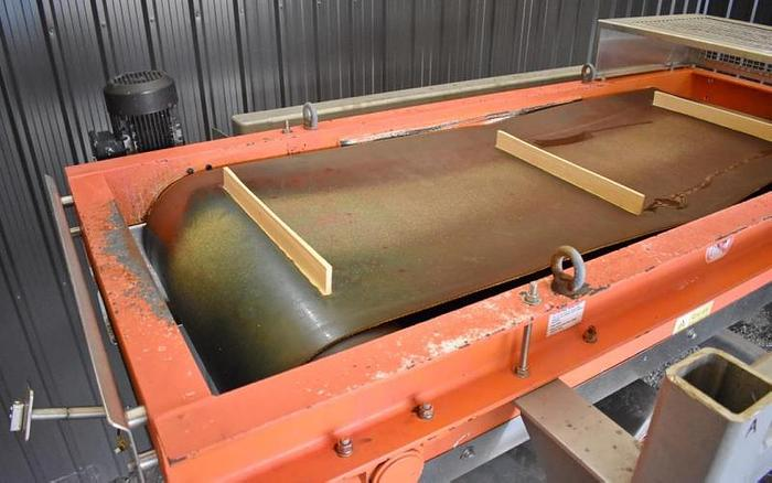 "USED ERIEZ CP MAGNETIC BELT CONVEYOR, 29.5"" WIDE X 72"" LONG"