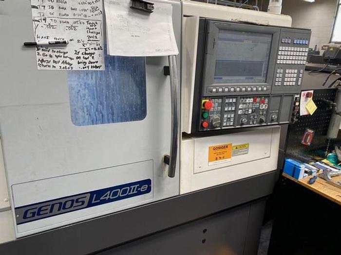 OKUMA GENOS L400II-E CNC TURNING CENTER #5675