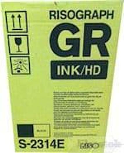 Genuine Riso GR Risograph HD Ink Black S-2314E