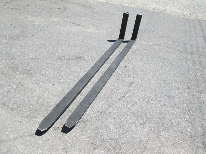 """8' Forklift Forks, 4"""" Wide, 16"""" carriage"""