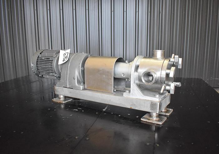 Used USED SINE MR120 POSITIVE DISPLACEMENT PUMP, STAINLESS STEEL