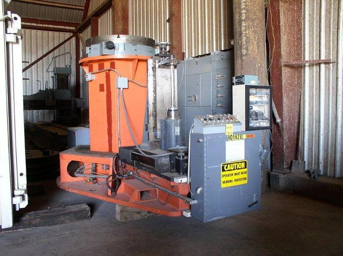 """Used 144"""" M & M / Gilman / Rohr Universal Grinder; Vertical; Inverted; For Abrading, De-burring, Grinding, Cowling; Mfg. 2001"""