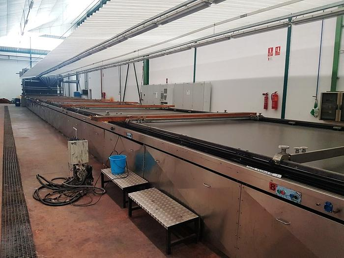 FLAT BED PRINTING - STEAMER - WASHING - DRYER  LINE