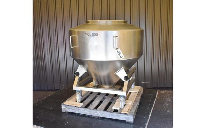 USED 158 GALLON TANK, STAINLESS STEEL