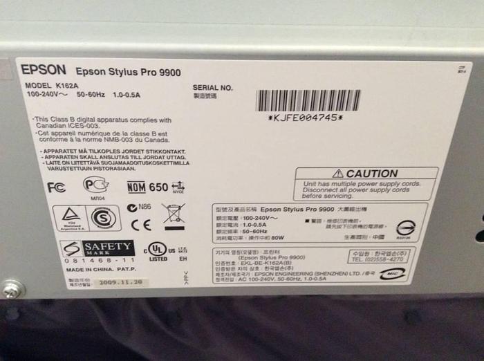 2009 Epson Stylur PRO 9900