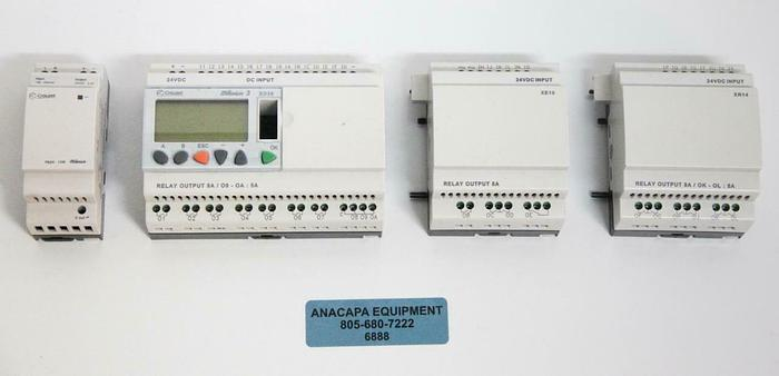 Used Crouzet Millenium 3 Programmable Logic Controller w/ XD26, PS24, XE10, XR14 6888