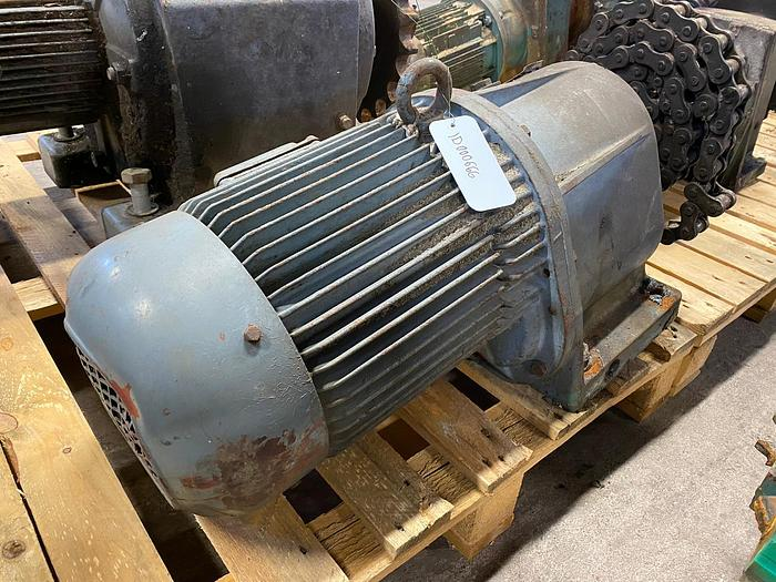 Used Eberhard Bauer Electric motor with reducer 7,5 kW