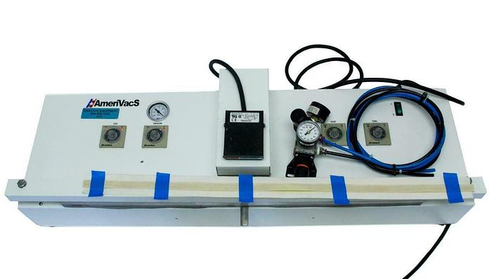 """Used AmeriVacS AVN-25 retractable Nozzle Vacuum Sealer 25"""" with Gas Purge (8791)W"""