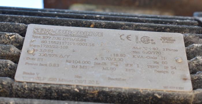 """USED INCLINE SCREW CONVEYOR, 14"""" DIAMETER X 168'' LONG, STAINLESS STEEL"""