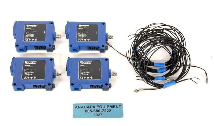 Used Wenglor OPT2041 Fiber Optic OPT Analyzer w/ K10 Cable USED LOT OF 4 (8927)R