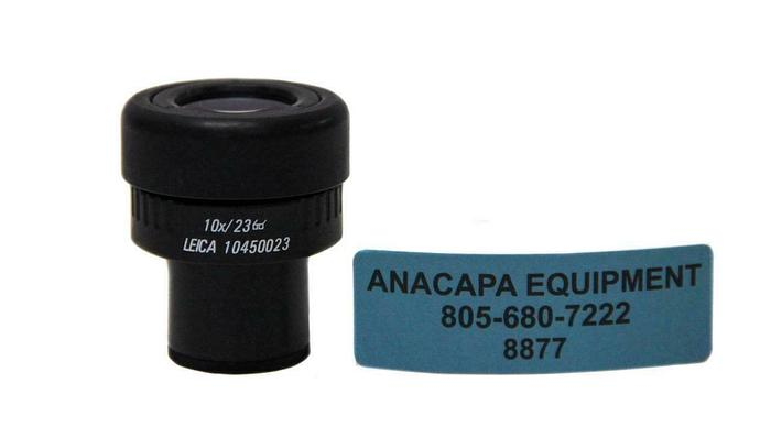 Used Leica 10450023 10x/23 Microscope Widefield Adjustable EyePiece (8877)W