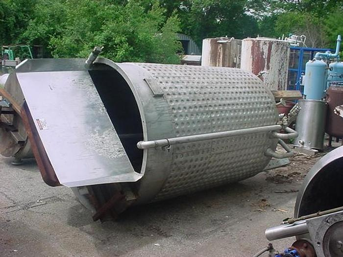 Used 1,000 GALLON TANK - S/S - JACKETED