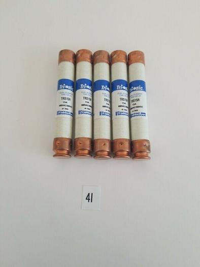 *NEW - LOT OF 5* TRS15R Ferraz Shawmut  Tri-onic Smart Spot 600vAC / 300vDC 15A