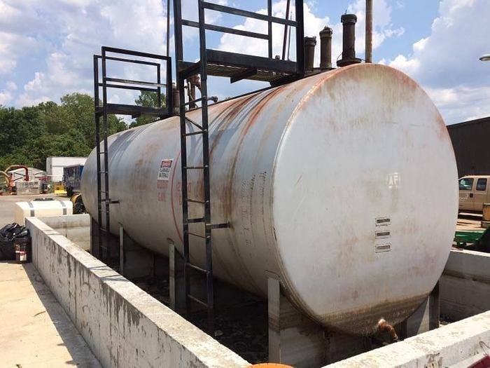 8,000 gallon fuel tank, 2 compartments 2000 gallon + 6,000 gallon. Pumps in tank.
