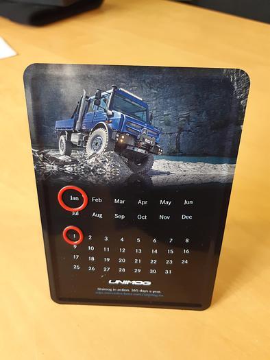 Mercedes Benz  Unimog Desk Calendar