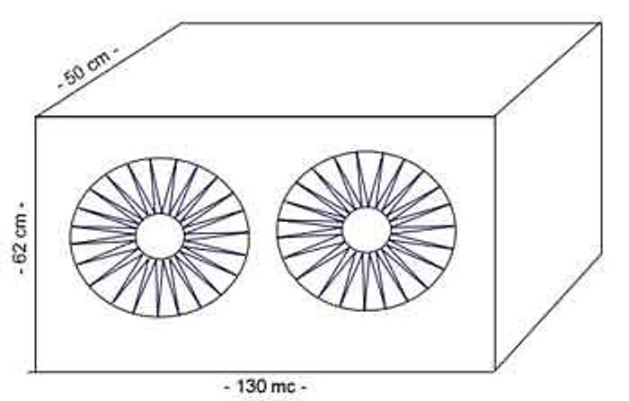 Używane Chłodnice 2-wentylatorowe P8/1.300x600 GN