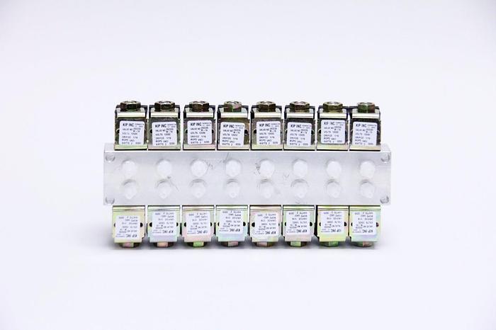Used KIP Inc 2X2235 Solenoid Valve M-16 Channel 12VDC, 16 Channel (2814)