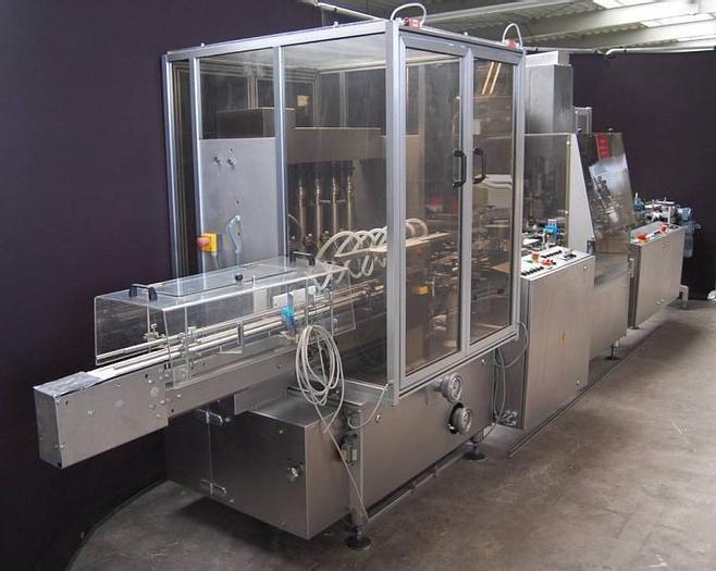 Used J 14715 D - Liquid Filler / Screw Capper BAUSCH + STRÖBEL UDF 6020 / KS 1020