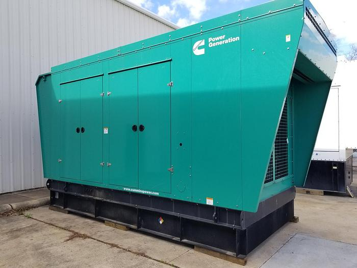 Used 0.8 MW (800 KW) 2014 Used Cummins QSK23-G7 Diesel Generator Set