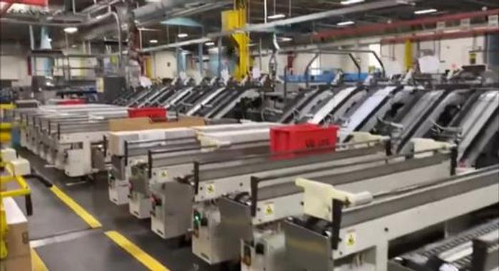 Used 2012 Goss UB Perfect Binder with (24) stations and (27) Clamps